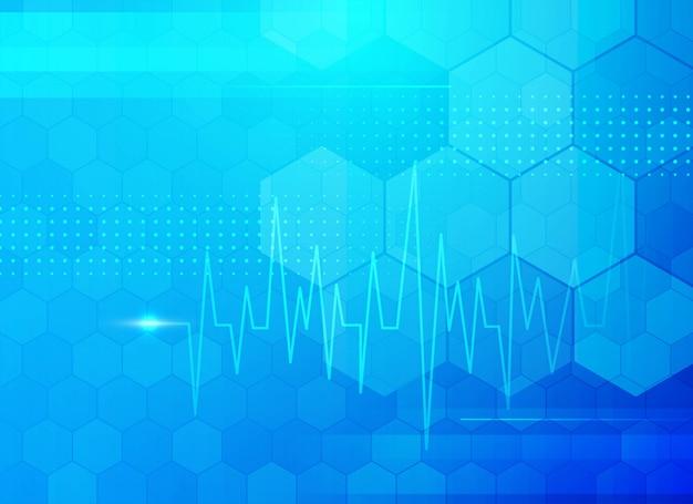 Fundo médico azul moderno