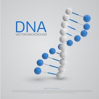 Fundo médico com a molécula de dna 3d