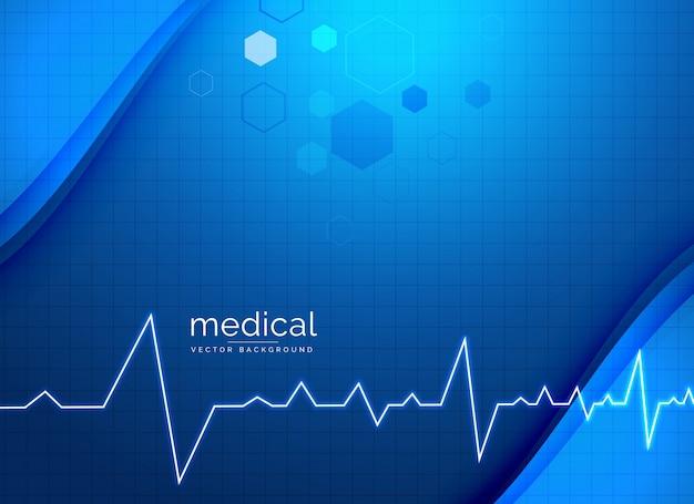 Fundo médico de saúde com eletrocardiograma
