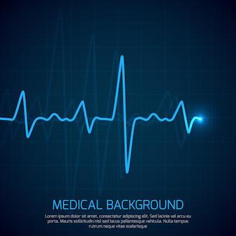 Fundo médico de saúde vector