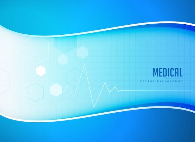 Fundo médico do vetor com linha do coração