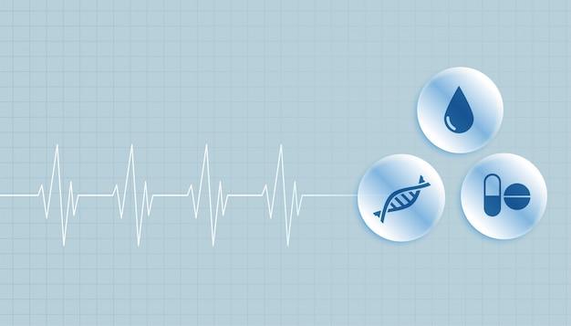 Fundo médico e de saúde com espaço de texto