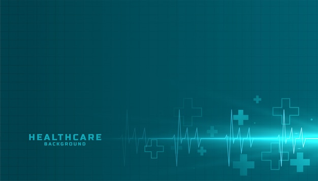 Fundo médico e de saúde com linha cardiógrafo