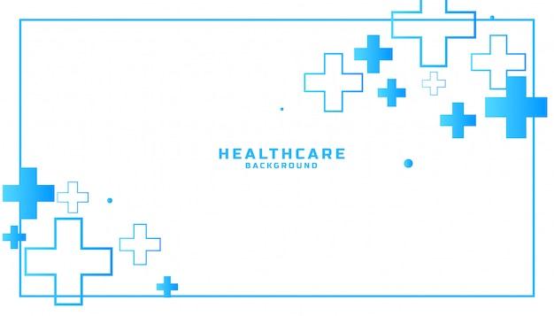 Fundo médico e de saúde com sinais de adição