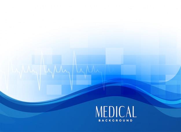 Fundo médico moderno azul