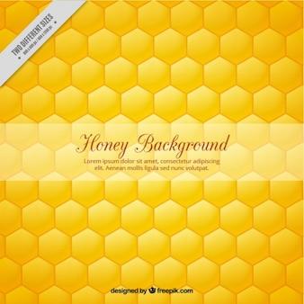 Fundo mel hexagonal