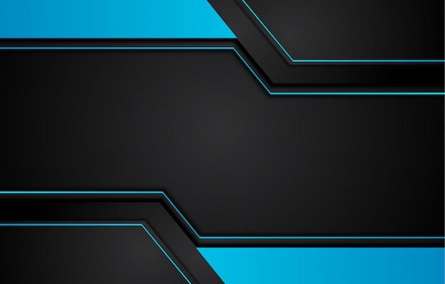 Fundo metálico abstrato azul e preto da inovação da tecnologia da disposição do quadro. .
