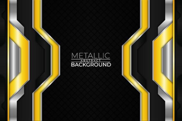 Fundo metálico abstrato estilo amarelo