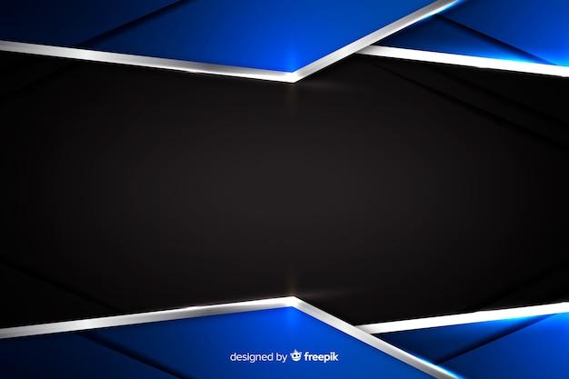 Fundo metálico azul abstrato com reflexão