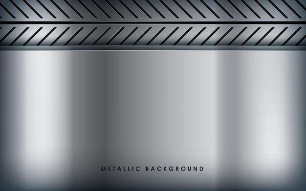 Fundo metálico branco de textura