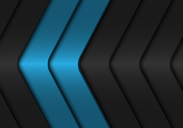 Fundo metálico da obscuridade - cinza azul abstrata - seta.