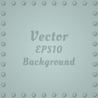 Fundo metálico de aço placa texturizada com rebites e texto.