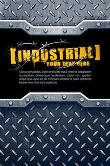 Fundo metálico industrial