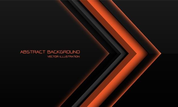 Fundo metálico laranja abstrato com setas e sombras geométricas
