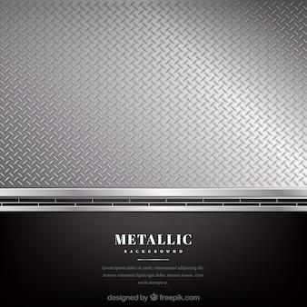 Fundo metálico preto e prata