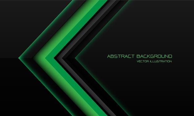 Fundo metálico verde abstrato com setas e sombras geométricas