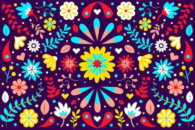 Fundo mexicano cinco de mayo desenhado à mão