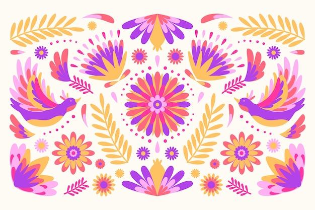 Fundo mexicano colorido decorativo