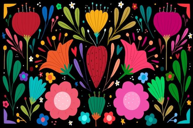 Fundo mexicano colorido para cinco de maio
