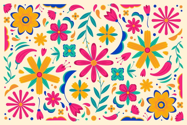 Fundo mexicano colorido