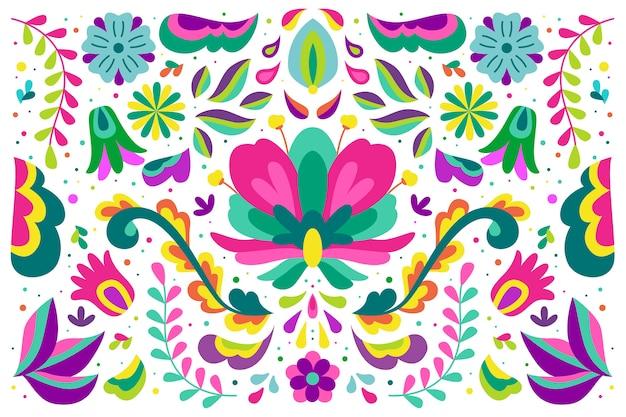 Fundo mexicano de design colorido