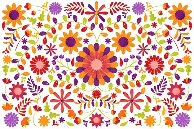 Fundo mexicano de estilo colorido