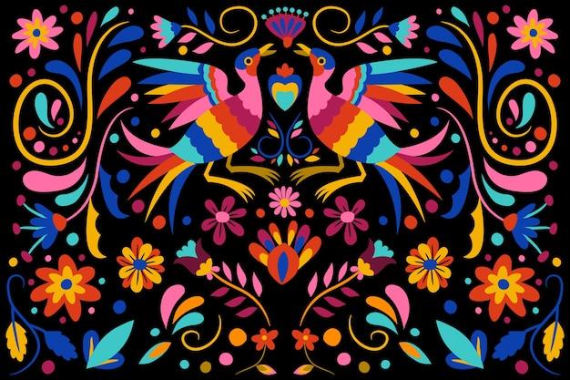 Fundo mexicano liso colorido