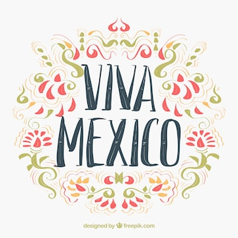 Fundo mexicano ornamental