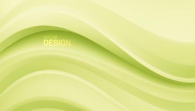 Fundo minimalista abstrato com formas onduladas verdes pastéis