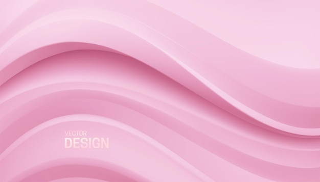 Fundo minimalista abstrato com relevo curvo em rosa suave