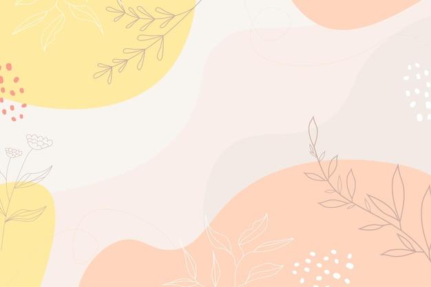 Fundo minimalista abstrato desenhado à mão