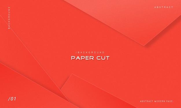 Fundo minimalista de corte de papel vermelho