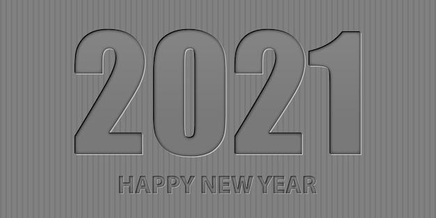 Fundo minimalista de feliz ano novo com design de estilo tipográfico