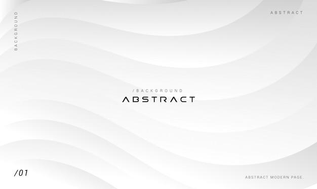 Fundo minimalista de ondas gradiente branco e cinza