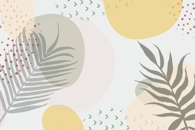 Fundo minimalista desenhado à mão com plantas