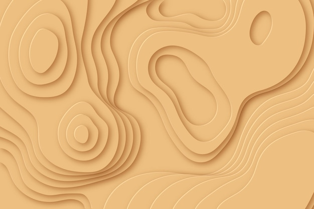 Fundo minimalista mapa topográfico bege