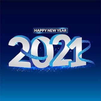 Fundo mínimo azul escuro de ano novo de 2021