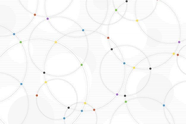 Fundo mínimo da decoração da tecnologia colorida abstrata do círculo.