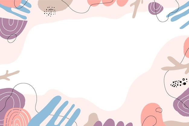 Fundo mínimo desenhado à mão com espaço vazio