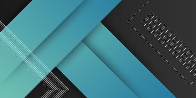 Fundo moderno abstrato com cor pastel gradiente azul e elemento de formato quadrado