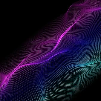 Fundo moderno abstrato com design de partículas coloridas