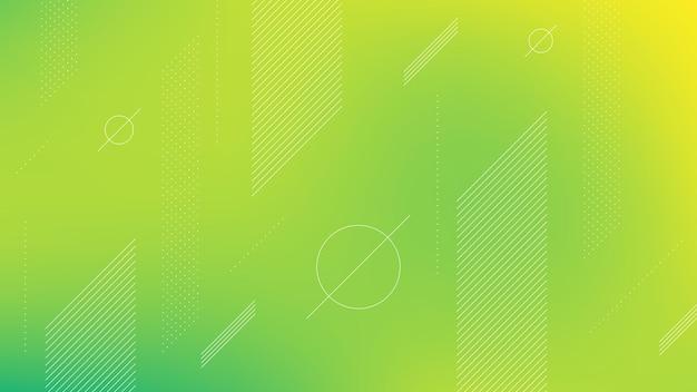 Fundo moderno abstrato com elemento memphis e efeito de desfoque