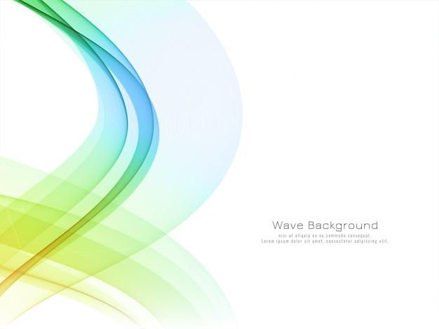 Fundo moderno abstrato com ondas coloridas