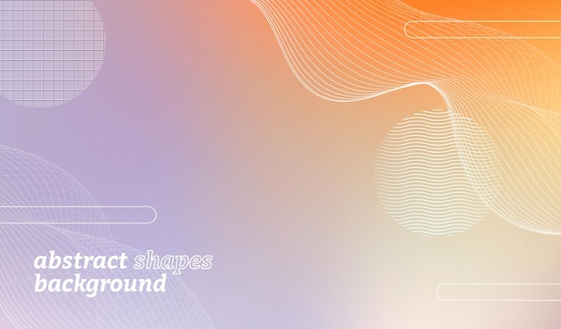 Fundo moderno abstrato com ondas e formas geométricas