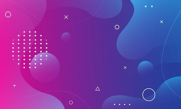 Fundo moderno abstrato de forma fluida em azul e rosa