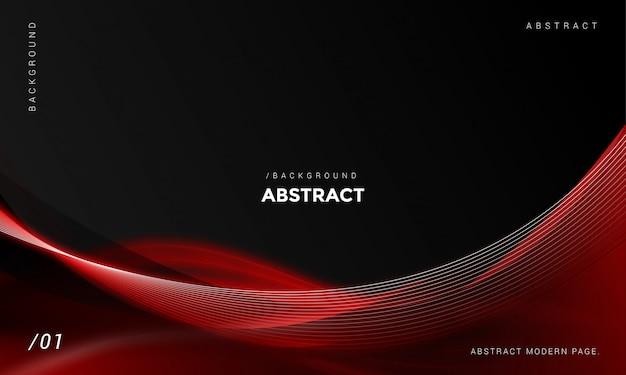 Fundo moderno abstrato escuro com elemento vermelho