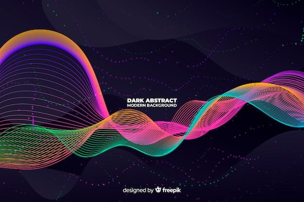 Fundo moderno abstrato escuro
