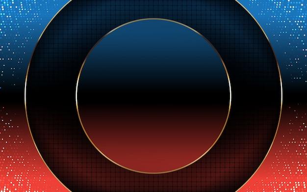 Fundo moderno abstrato gradiente azul e vermelho
