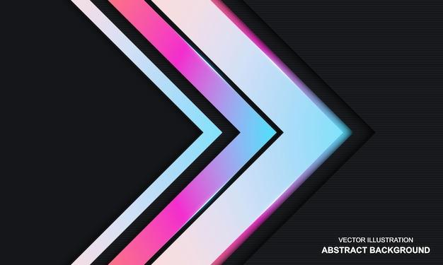 Fundo moderno abstrato preto azul e rosa