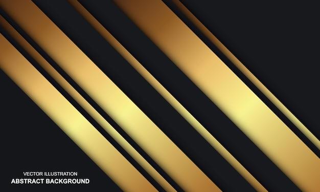 Fundo moderno abstrato preto e dourado de luxo